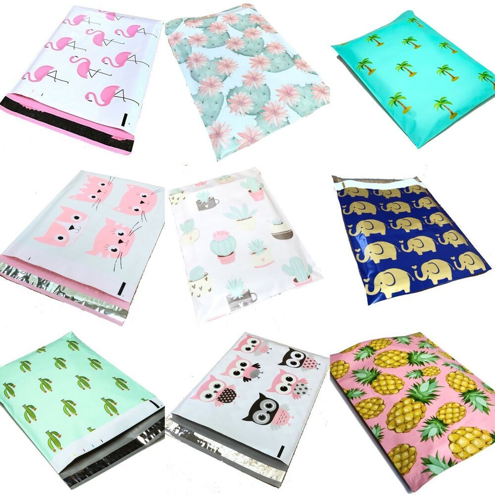 Designer Poly Mailers Plastic Envelopes Shipping Bags All