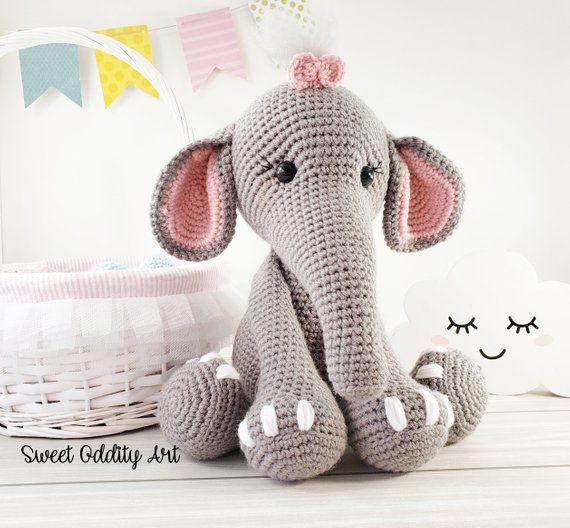 Elephant crochet pattern, crochet elephant, elephant tutorial, crochet pattern #crochetelephantpattern