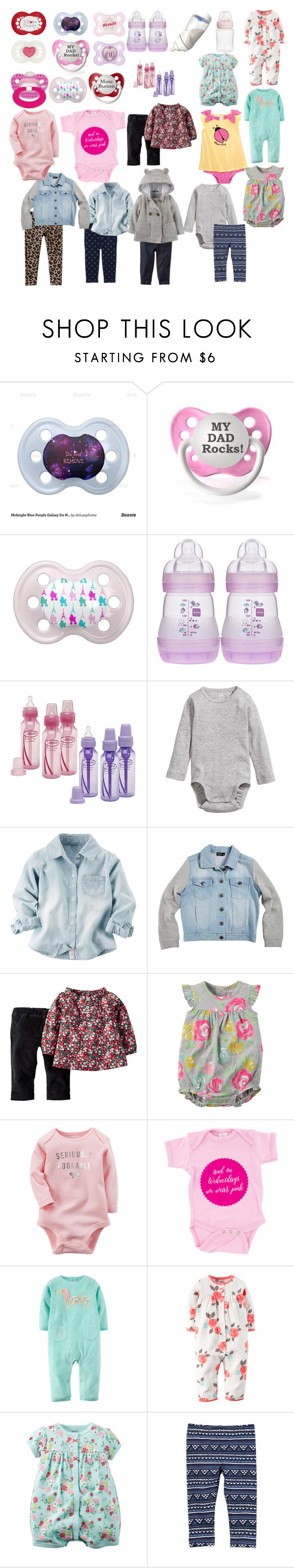 """""""Hailey's baby shower #3"""" by kandresen ❤ liked on Polyvore featuring Playtex, Dr. Brown's, Levi's, H&M and Bardot Junior"""