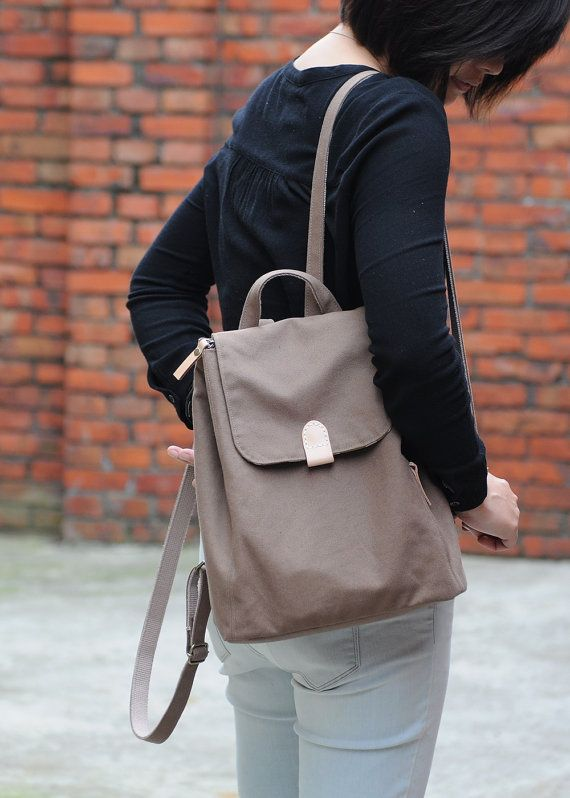 Simple Day Casual Backpack - Bag PDF Sewing Pattern - with Sewing ...