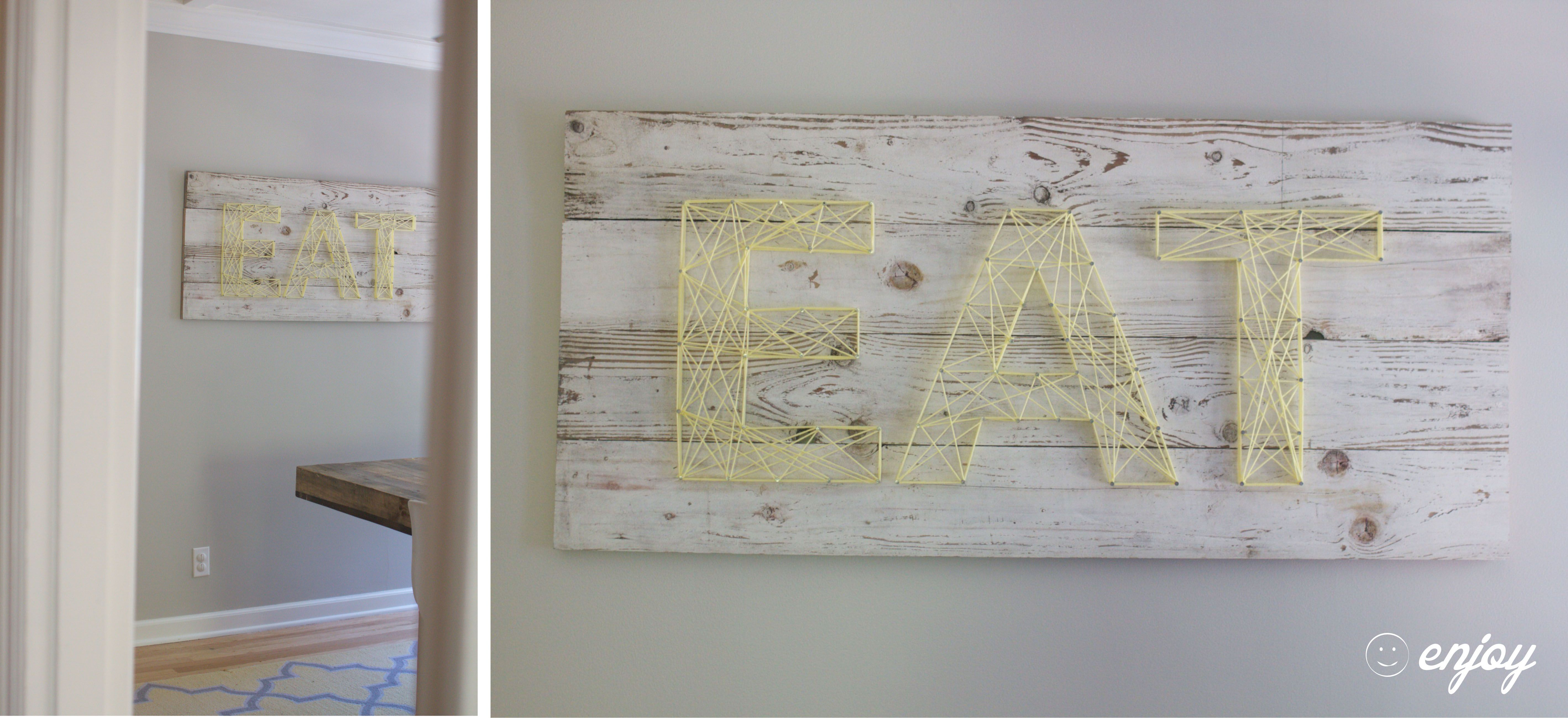 Aug reclaimed wood string art the finishing touches on our