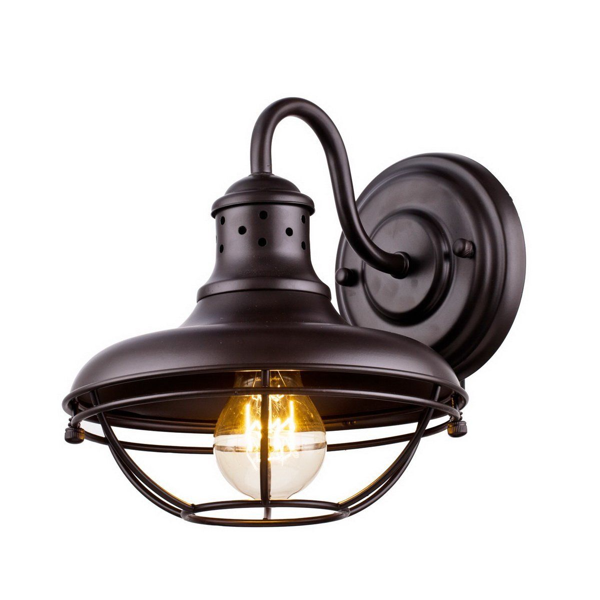 Dazhuan Vintage Metal Cage Outdoor Wall Light Exterior Wall Lantern Wall Sconce Lamp Oil Rubbed Bronze Cage Wall Lights Wall Lights Wall Light Fixtures Sconces