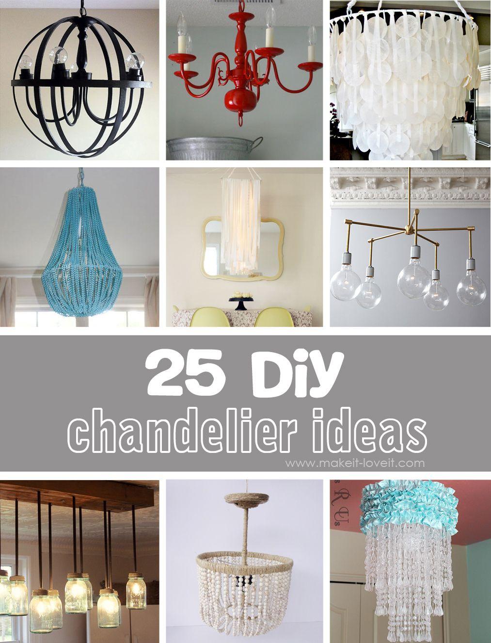 25 Diy Chandelier Ideas Diy Chandelier Homemade Chandelier Diy