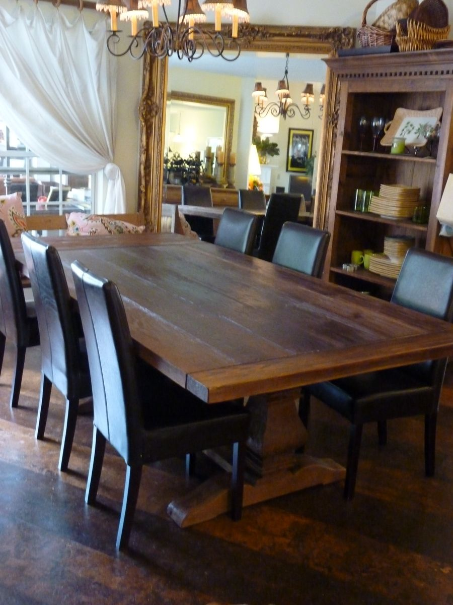 Rustic Dining Room Design With Rectangular Dark Brown Rustic Pine Dining Table Black Iron Chand Rustic Dining Table Rustic Dining Room Rustic Dining Room Table