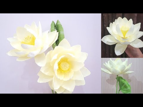 Crepe Paper Flowers How To Make Paper Lotus Flower From Crepe