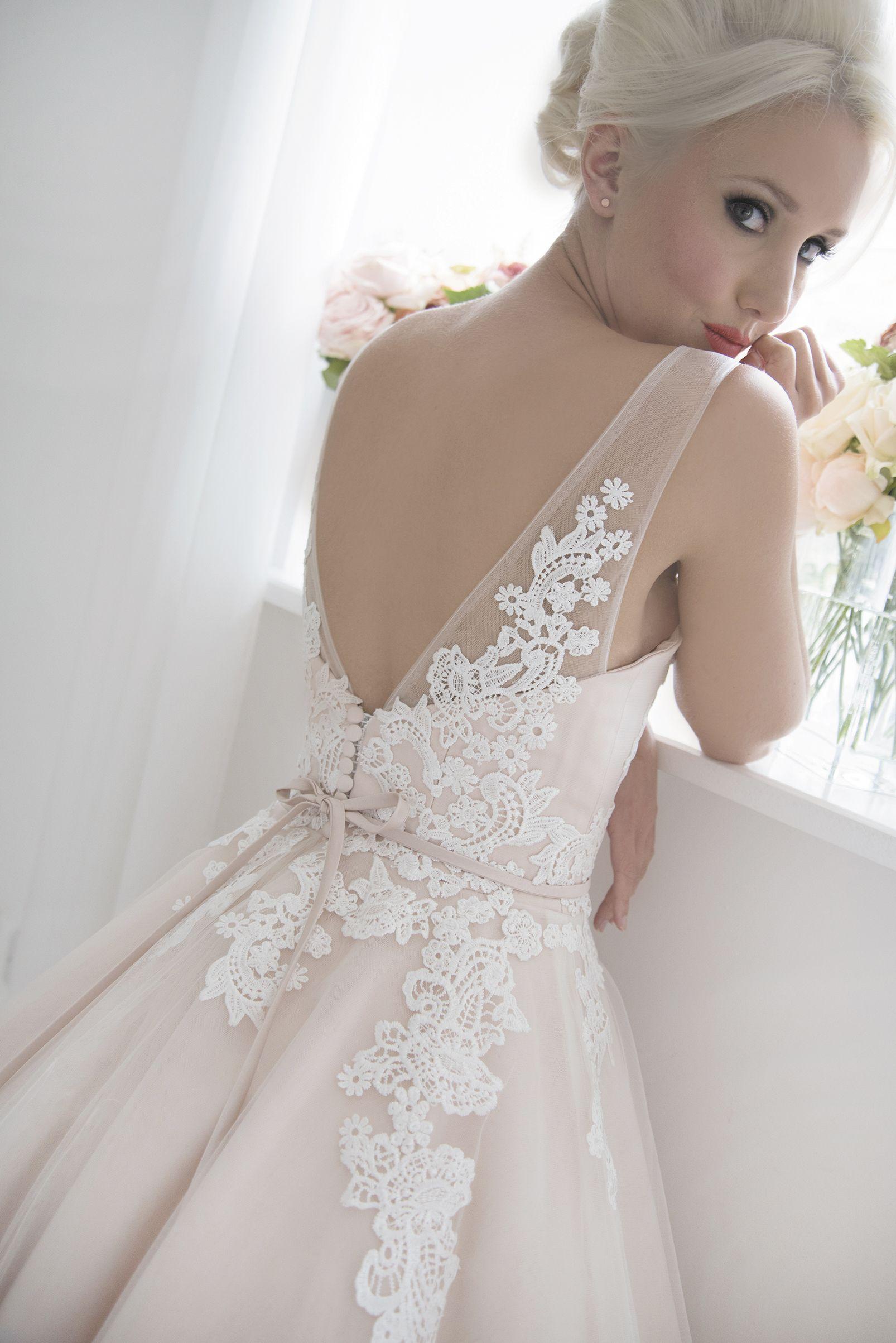 House of Mooshki 2017 Isadora Blush calf length wedding dress with ...