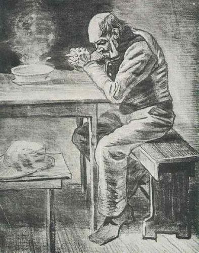 Prayer Before the Meal by Vincent van Gogh
