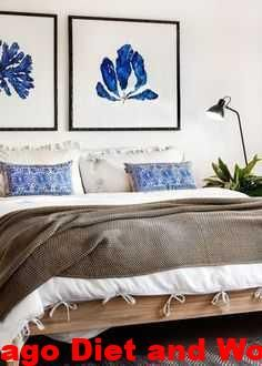 No headboard No worries Use large paintings as focal points in your bedroom