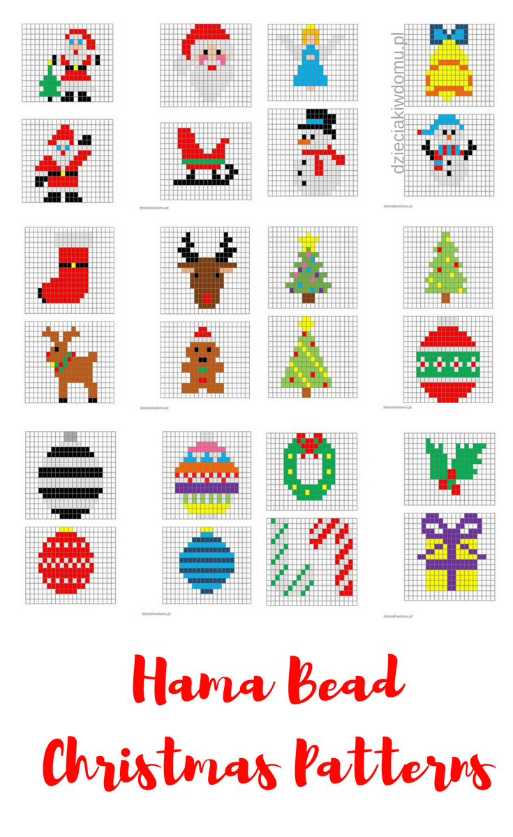 Iron bead Christmas decorations - print models