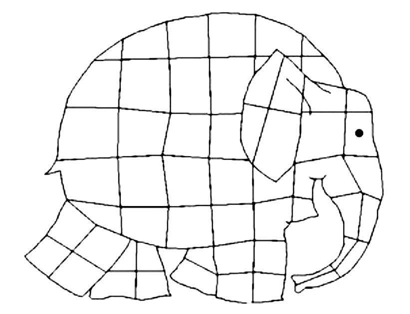 Resultado de imagem para elmer o elefante xadrez para imprimir ...