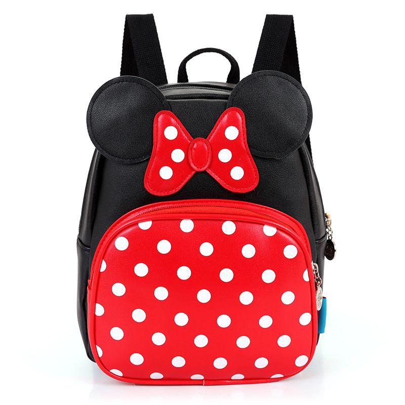 Baby girls backpack Kindergarten school bags Mickey Minne cartoon cute  backpacks 3-6 years old children kids princess dots bags f9c3a95f4f67a