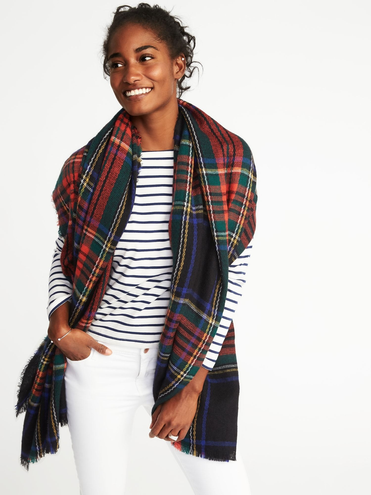 Flannel Blanket Scarf for Wo | Old Navy | Clothes | Pinterest ...