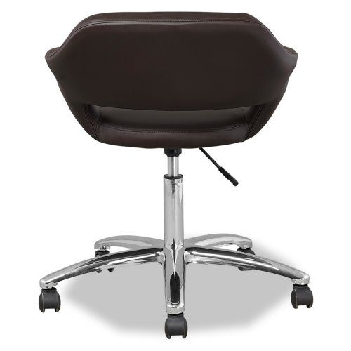 leick favorite finds upholstered arm office chair deep brown