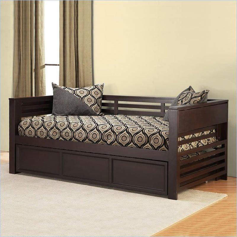 Hillsdale Miko Wood Daybed with Trundle in Espresso Finish - 1457DBT ...