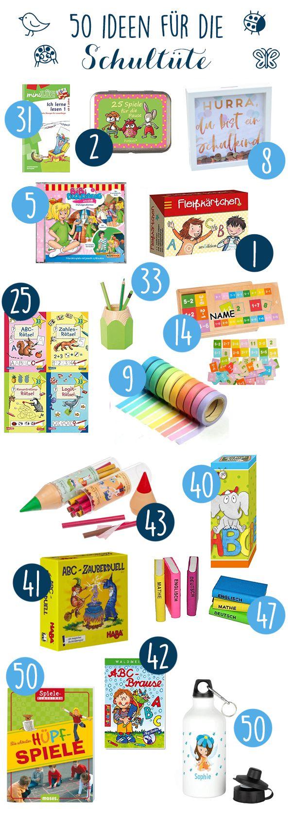 50 günstige Ideen für die Schultüte zur Einschulung für ABC-Kinder!