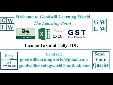 Tally GST Monthly Tax Adjustment in - Tally Video Tutorial GST