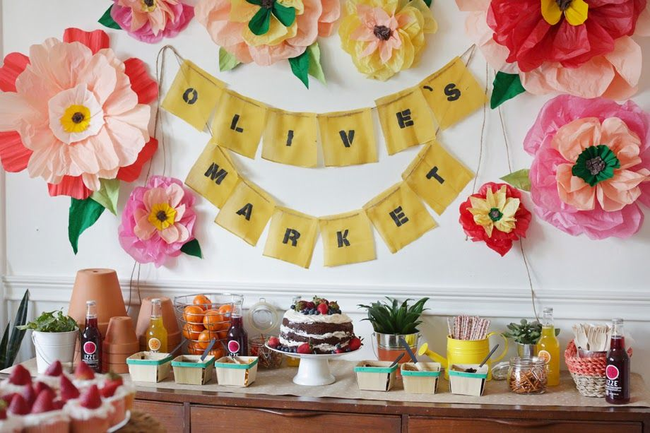 Olive\'s Farmers Market Party | Farmers, Party time and Party party