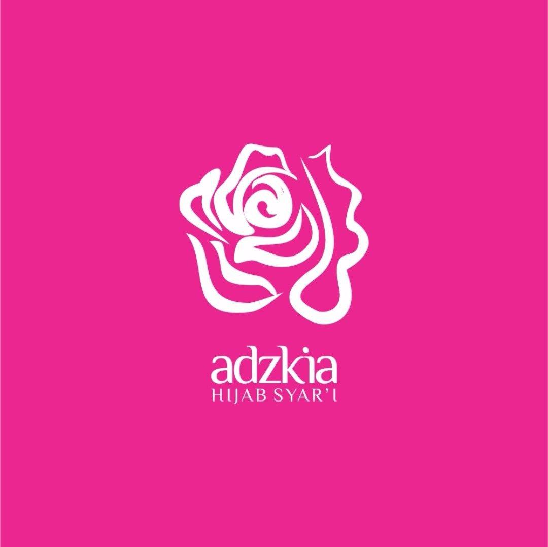 logo_adzkia hijab #desain #design #typography #illustration