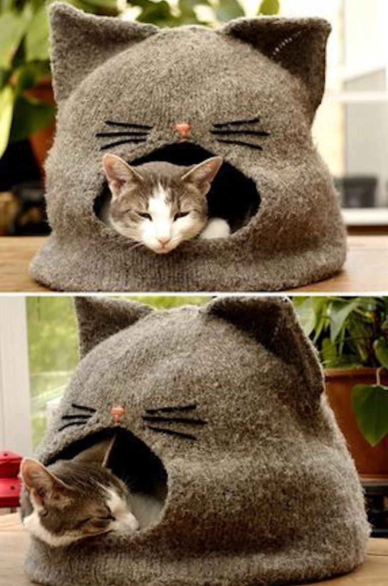 Cat Cave Sewing Pattern : sewing, pattern, Cocoon, Pattern, Ideas, WHOot, Knitted, Crochet, Accessories