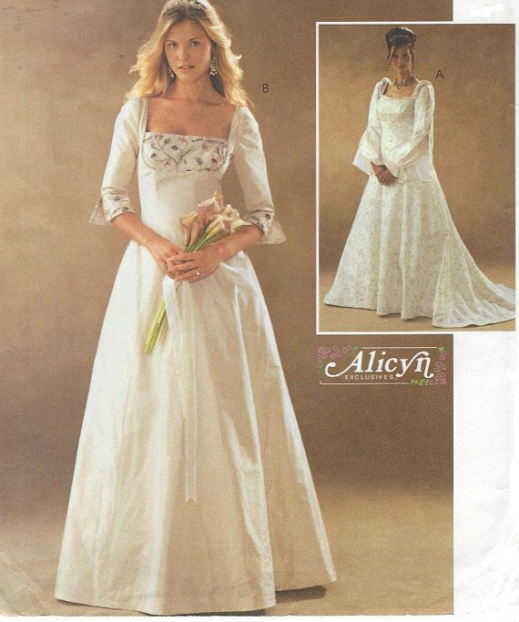 Alicyn Womens Renaissance Wedding Gown with Bodice & Sleeve | Bridal ...