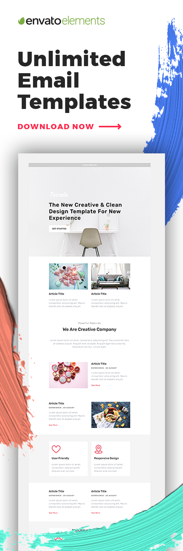 Unlimited Downloads Of The Best Email Templates With Envato Elements Email Marketing Design Email Marketing Inspiration Email Marketing Template