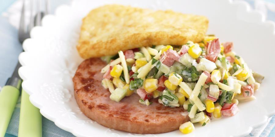 Corn Salad With Ham Recipe