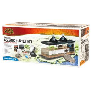Zilla Deluxe Aquatic Turtle Kit An Excellent All In One Starter Kit To Begin Years Of Turtle Enjoyment Features Premiu Aquatic Turtles Turtle Habitat Turtle