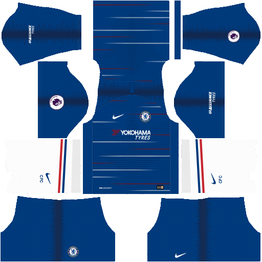 Nike Chelsea 2018-19 Dream League Soccer Kits 512x512 URL