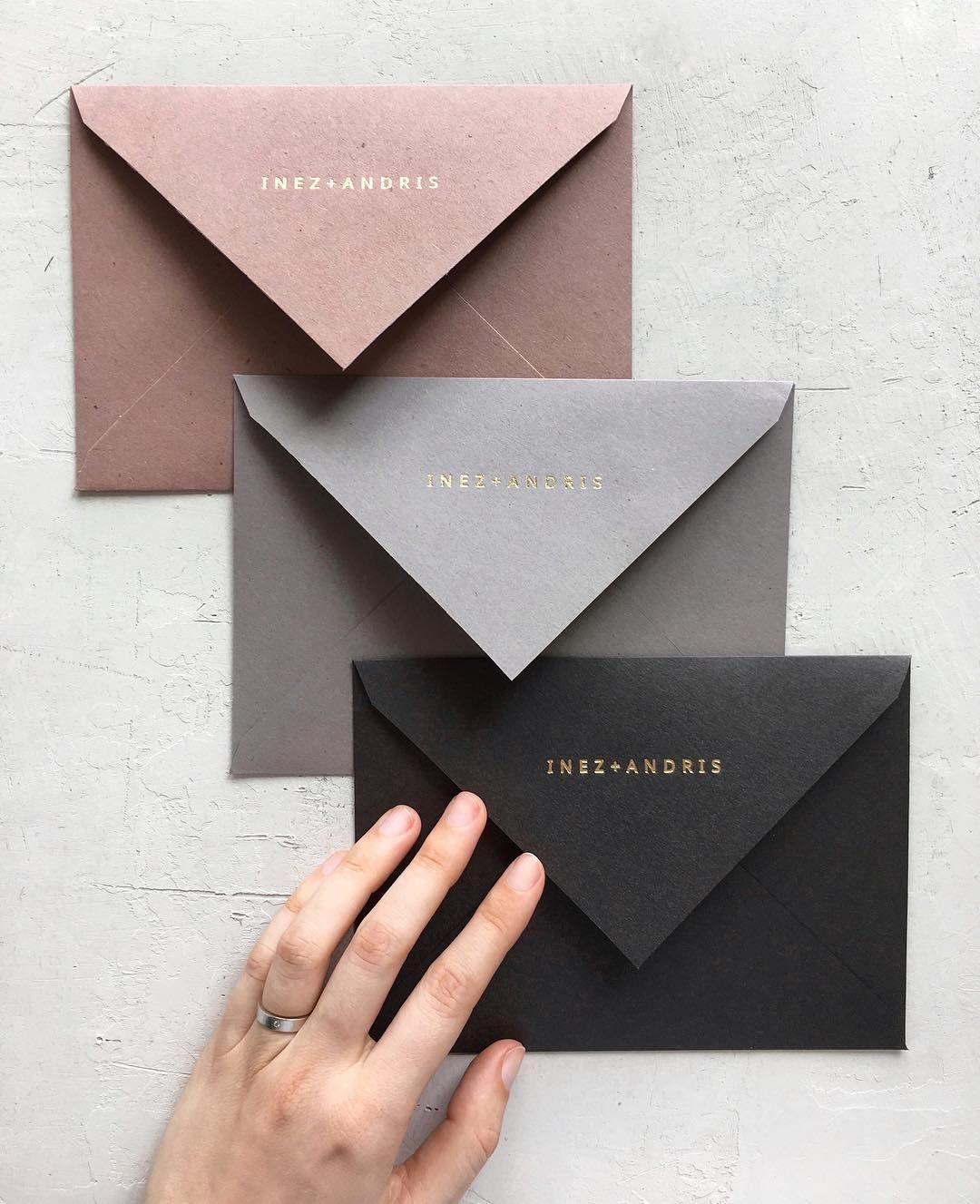 Hot Stamped Gold Foil Names On Our Handmade Envelopes Plicuri Handmade Cu Folio Auriu C Papira Invitatii De Handmade Envelopes Envelope Business Card Design
