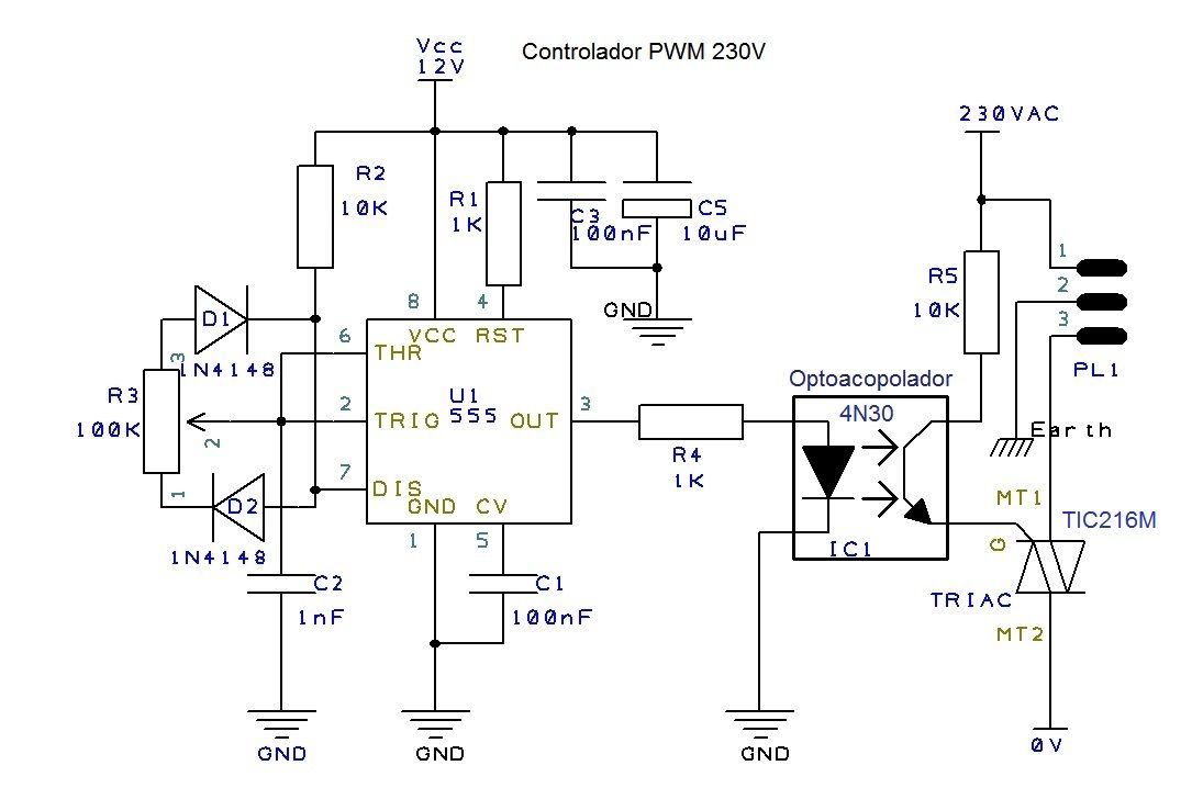 230V PWM controller | Eletronicos, Esquema, Controle