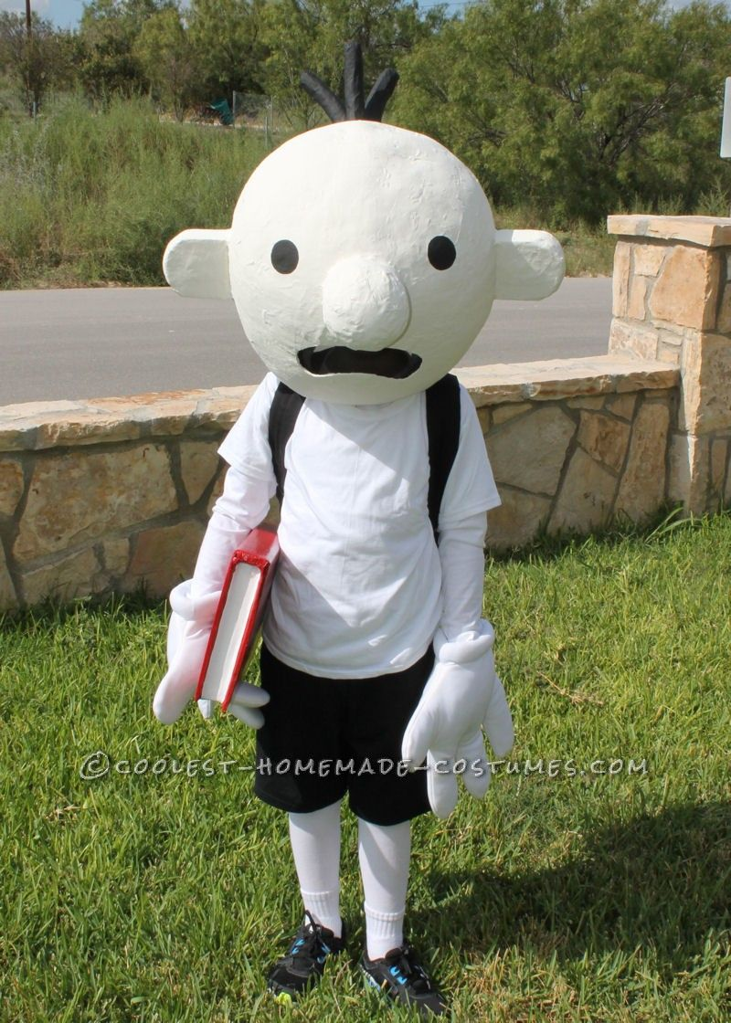 Coolest Homemade Costume Idea Diary of a Wimpy Kid Costume & Coolest Homemade Costume Idea: Diary of a Wimpy Kid Costume | Wimpy ...