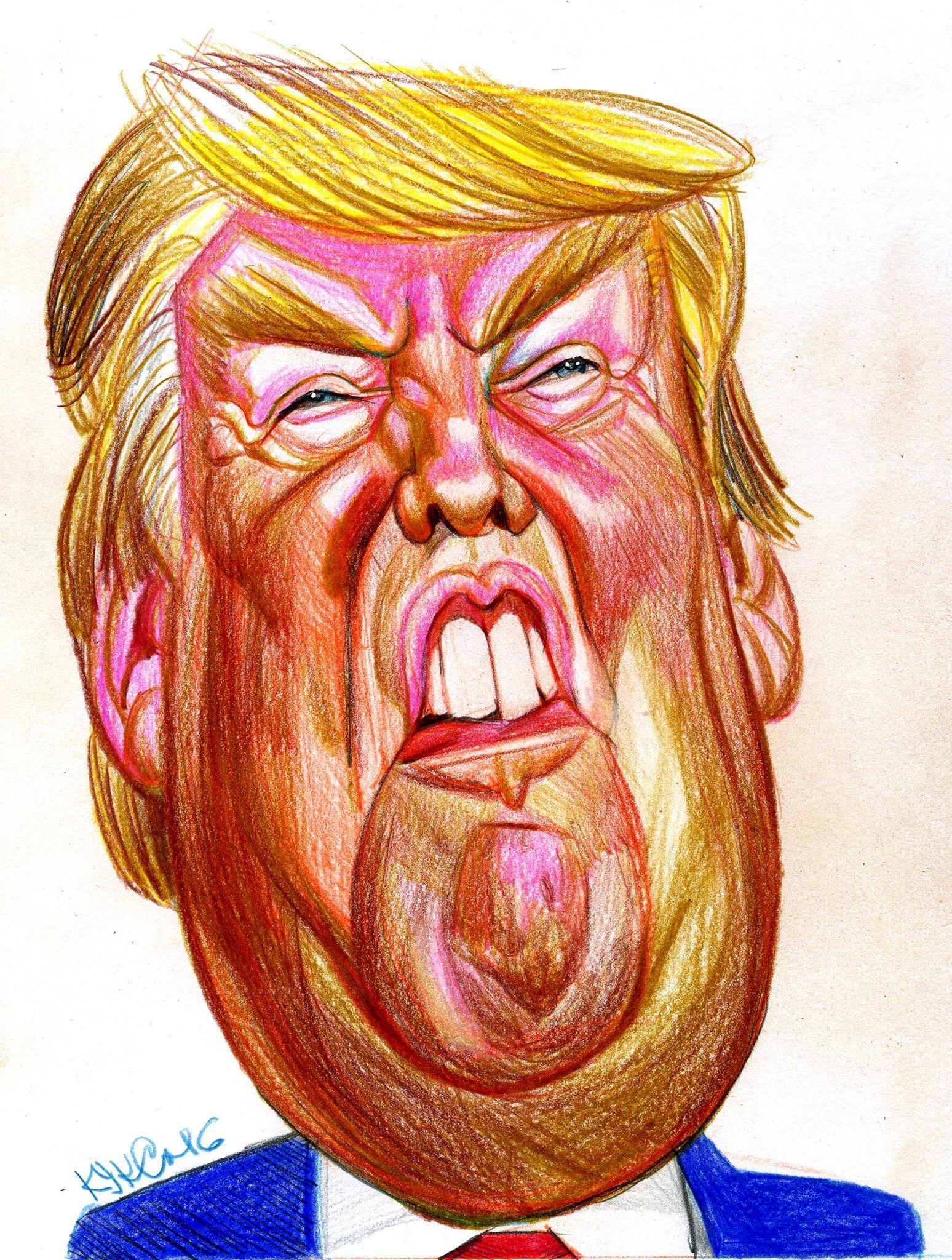 Resultado de imagen para Caricatura de Donald Trump