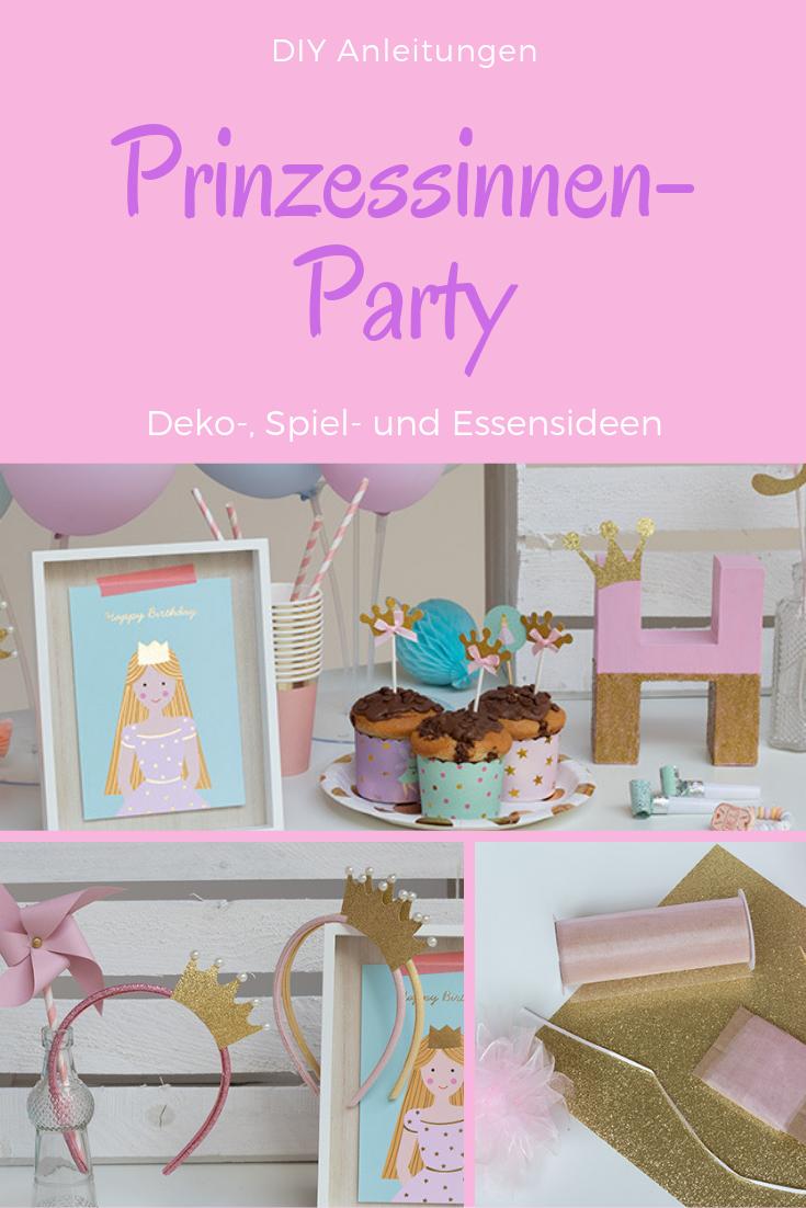 Märchenschloss-Pinata als Spiel zum Prinzessin Kindergeburtstag Mädchen