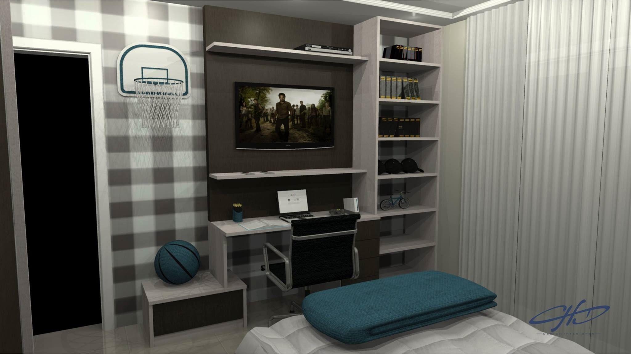 Muitas vezes quarto masculino - Galeria de Projetos Promob | INTERIORES  VZ02