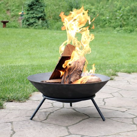 Sunnydaze Raised Portable Fire Pit Bowl Small Round Outdoor Wood Burning Patio Firepit With Sturdy Stand Cast Iron Cast Iron Fire Pit Iron Fire Pit Fire Pit Cast iron fire pit bowl
