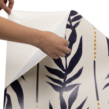 Roommatesnavy Vintage Palm Peel And Stick Wallpaper By Drew Barrymore Flower Home Walmart Com Peel And Stick Wallpaper Palm Leaf Wallpaper Boho Eclectic
