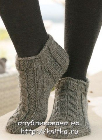 Knit Slippers My Great Grandmom Used To Make Booties Like This For