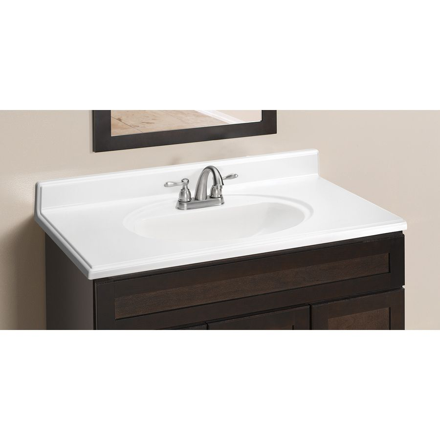 Bathroom Style Selections White Cultured Marble Integral Vanity Top