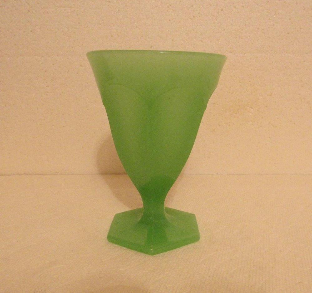 Jadeite green depression glass vase 6 tall glass and milk glass jadeite green depression glass vase 6 tall reviewsmspy