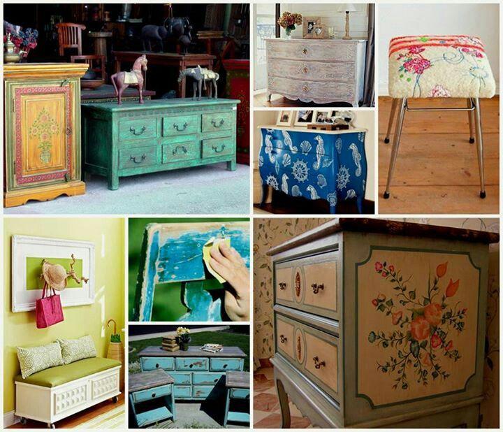restauracion muebles antiguos fests Pinterest Muebles