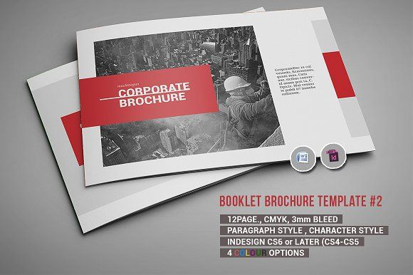 Booklet Brochure Template #2 by iwanraj on @creativemarket - booklet template free download