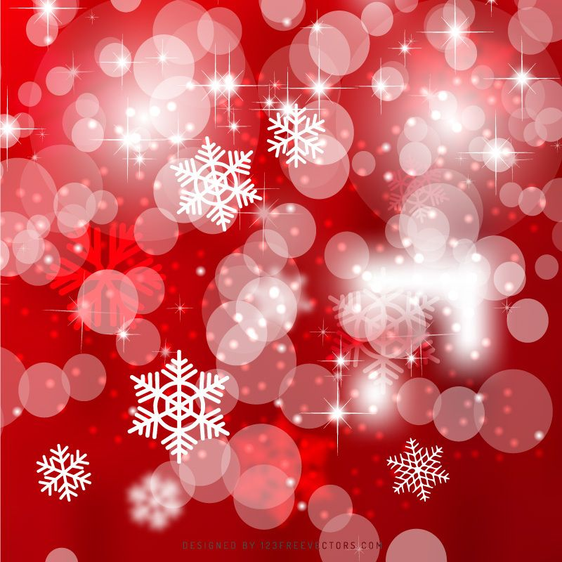 Red Christmas Bokeh Lights Background In 2019 Christmas