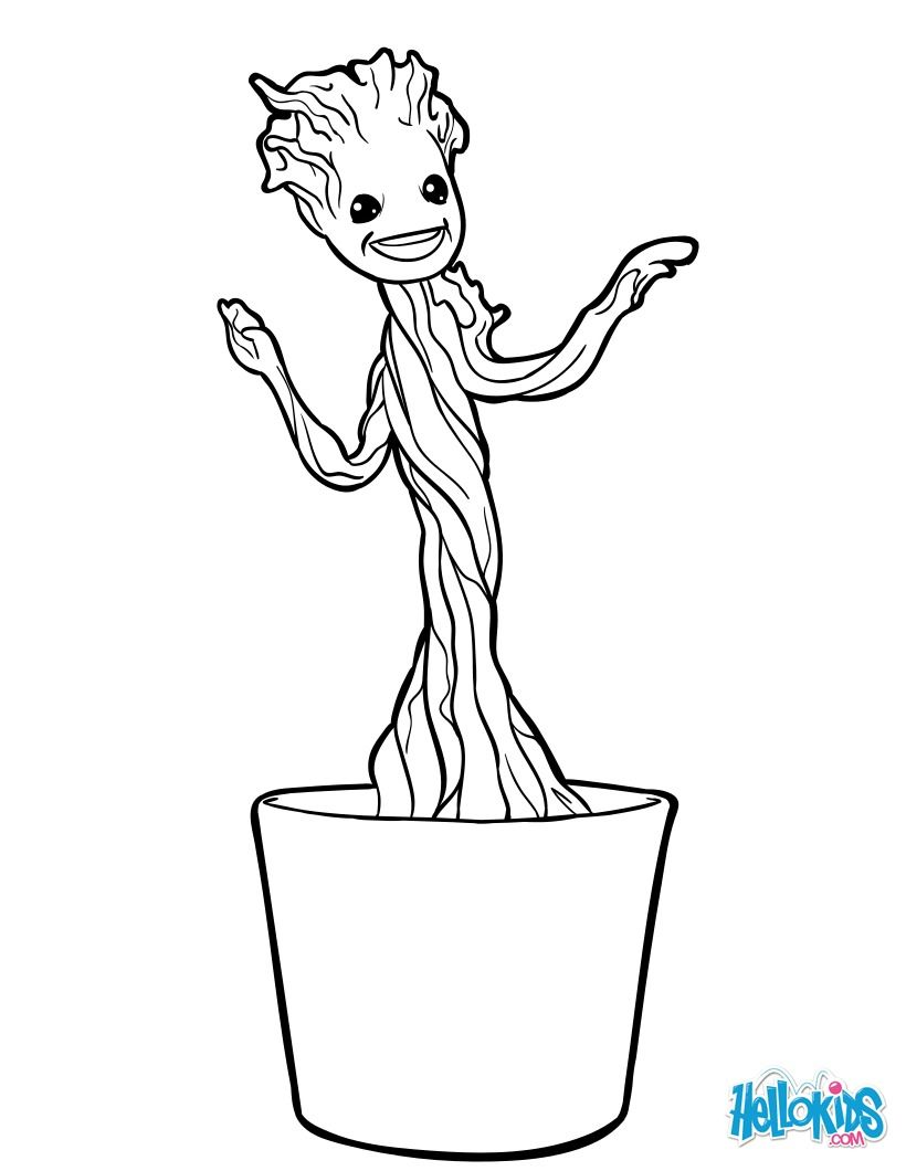 Little Groot Coloring Page Discover More Coloring Pages From Guardians Of The Galaxy On Hellok Mermaid Coloring Pages Marvel Coloring Star Wars Coloring Sheet