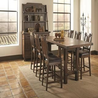 Room · Shop For Bastille Brown 8 Piece Counter Height Dining Set.