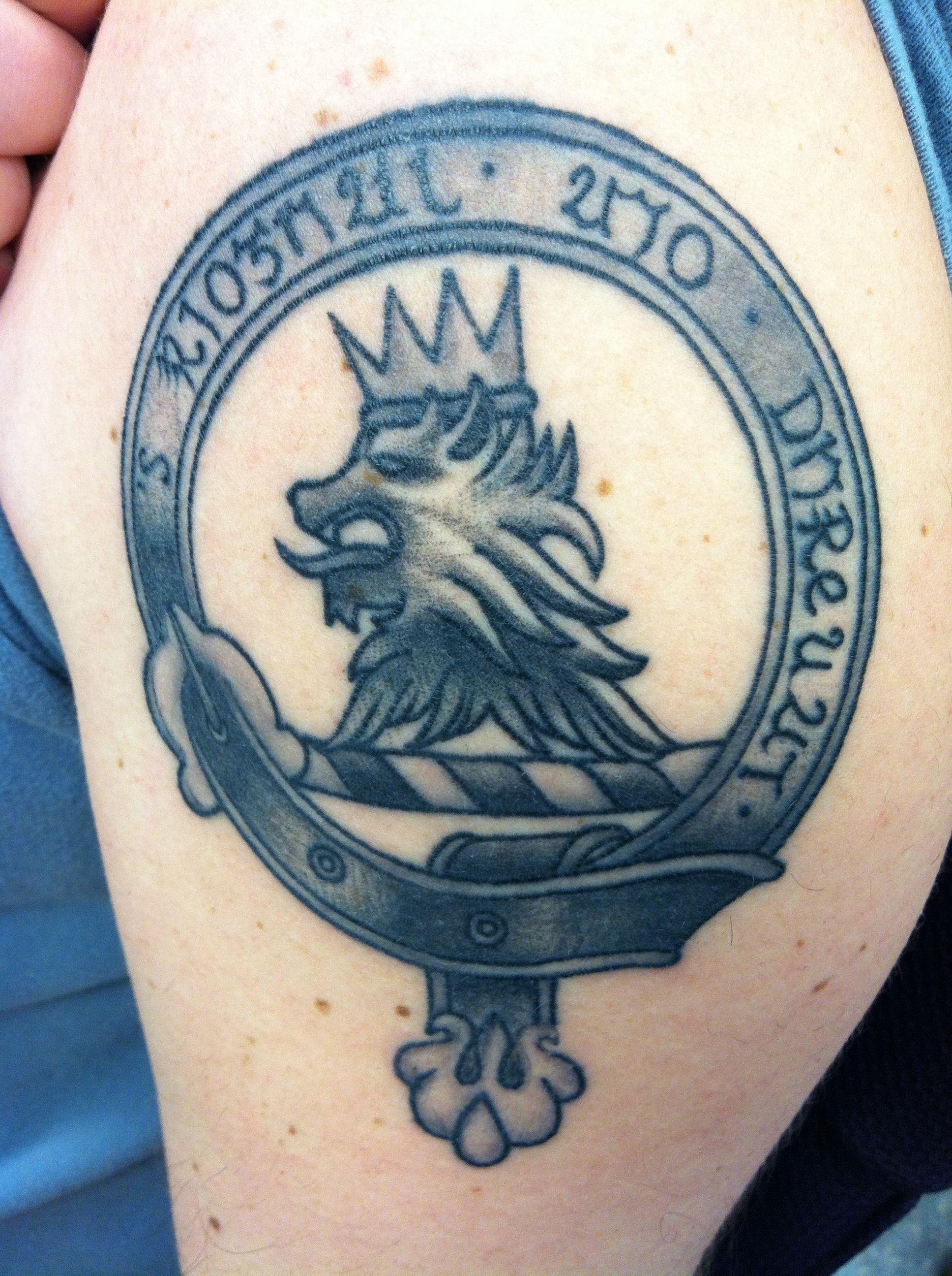 Scottish Crest Tattoo Fish Clan Symbol Wwwmiifotoscom