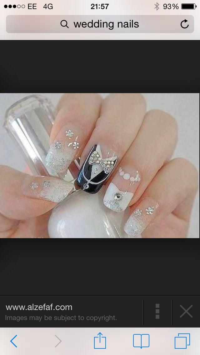 Wedding Day Nails | Nail Art Ideas | Pinterest | Diseos ...
