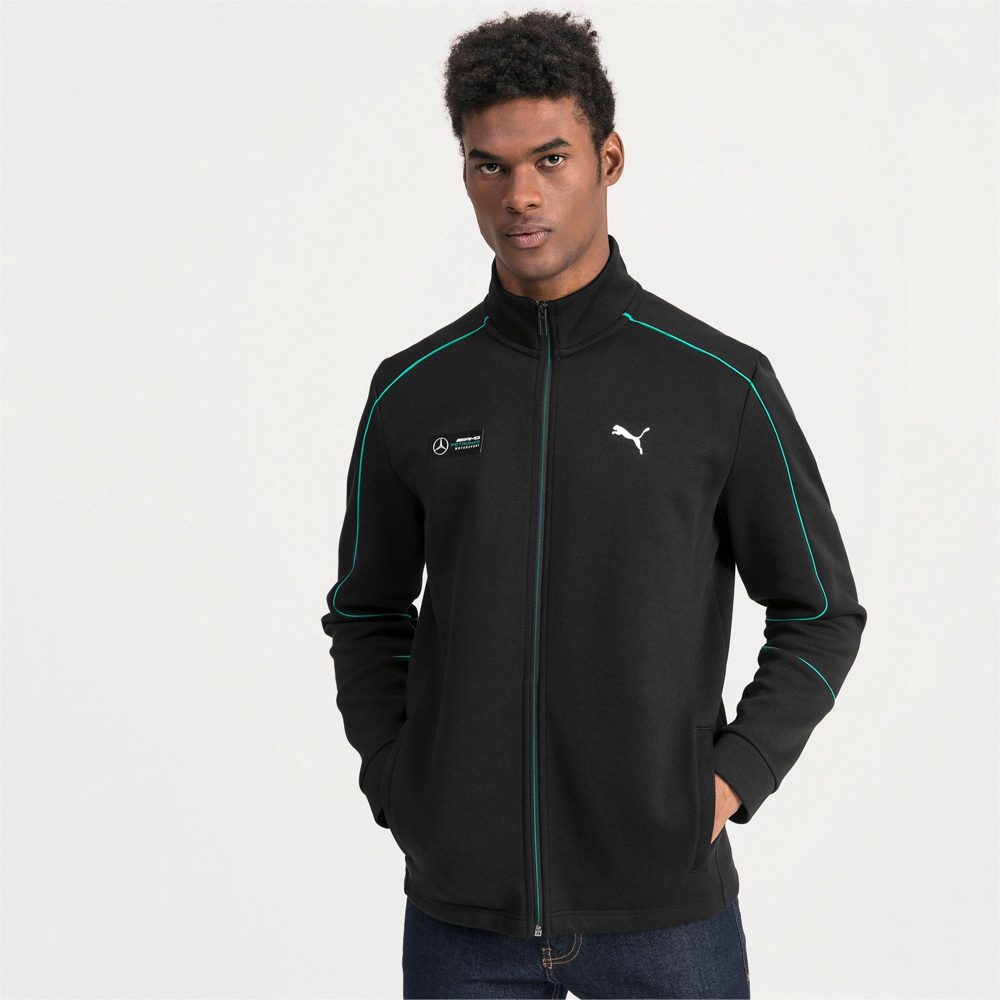 Mercedes AMG Petronas Men's Sweat Jacket | Puma Black | PUMA Mercedes AMG Petronas | PUMA United Kingdom #mercedesamg