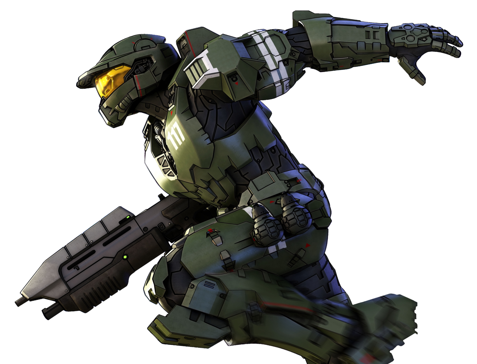 Halo Legends Spartan 117 Right Png
