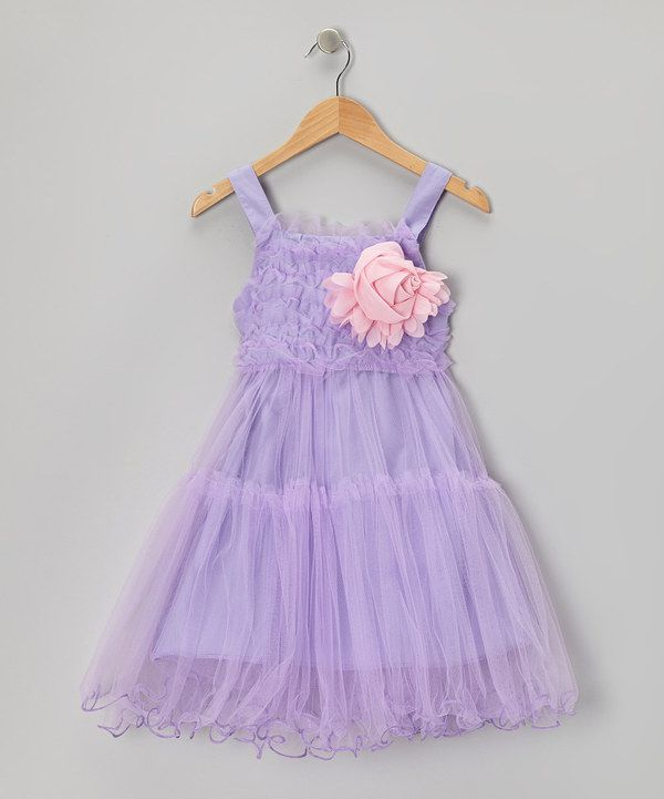 Take a look at this Purple Ruffle Rosette Dress - Toddler & Girls on zulily today!