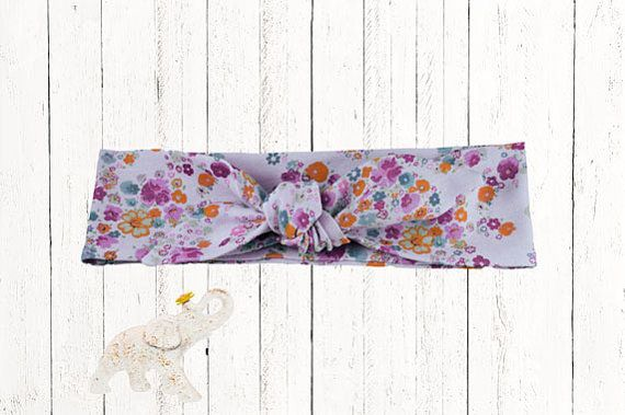 Sparkle Floral Print Over Lavender Cotton By Mamasluckyelephant Floral Prints Knitted Headband Floral